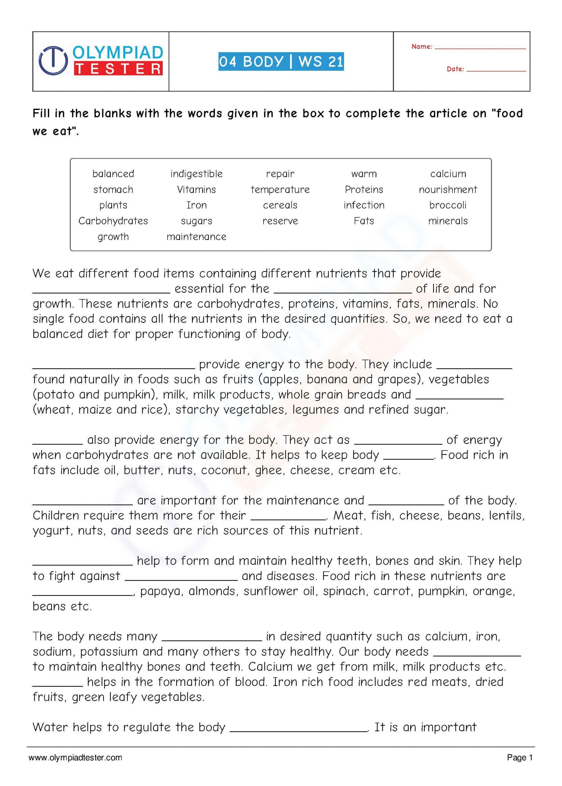 5th Grade Science Worksheets Pdf Class 4 Science Human Body Worksheet 21