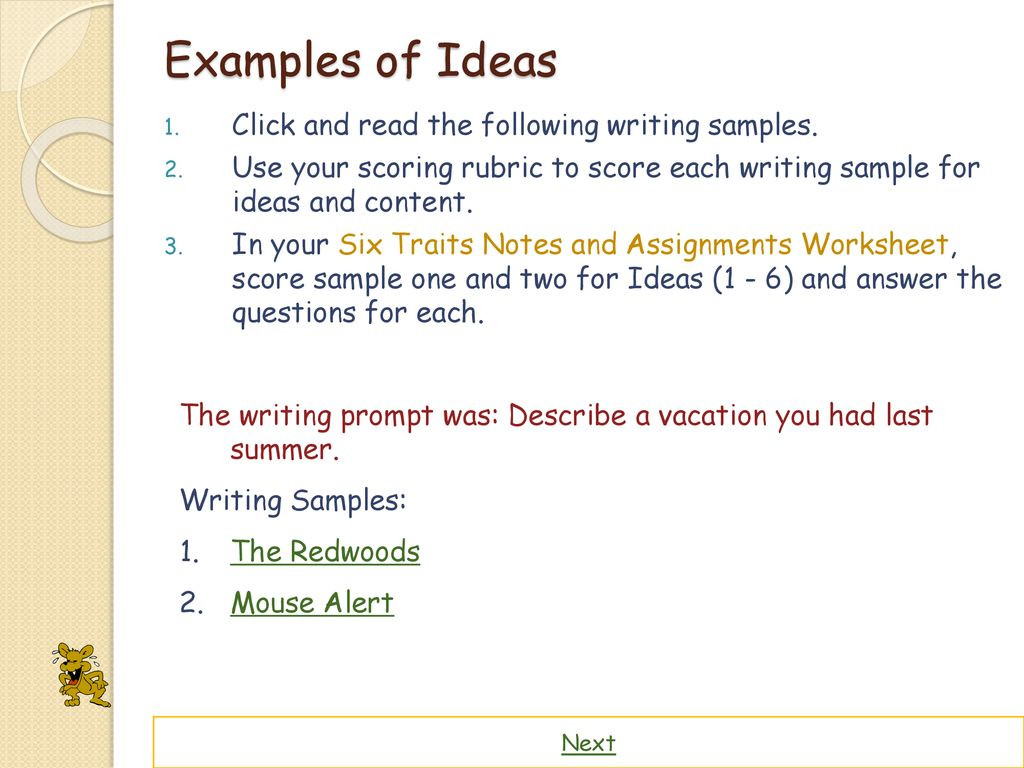 6 Traits Of Writing Worksheets the Six Traits Of Writing Ppt