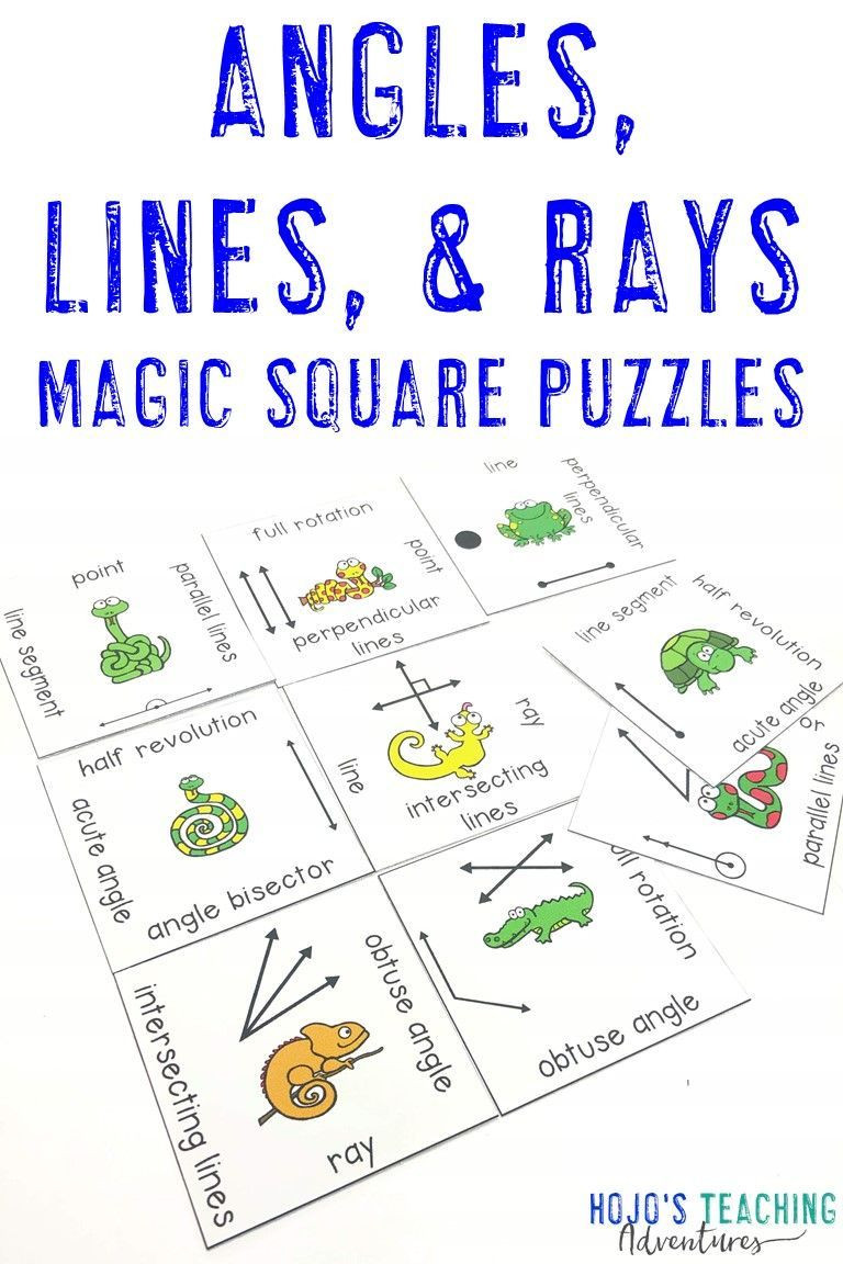 6th Grade Geometry Worksheets Lines and Angles Activities