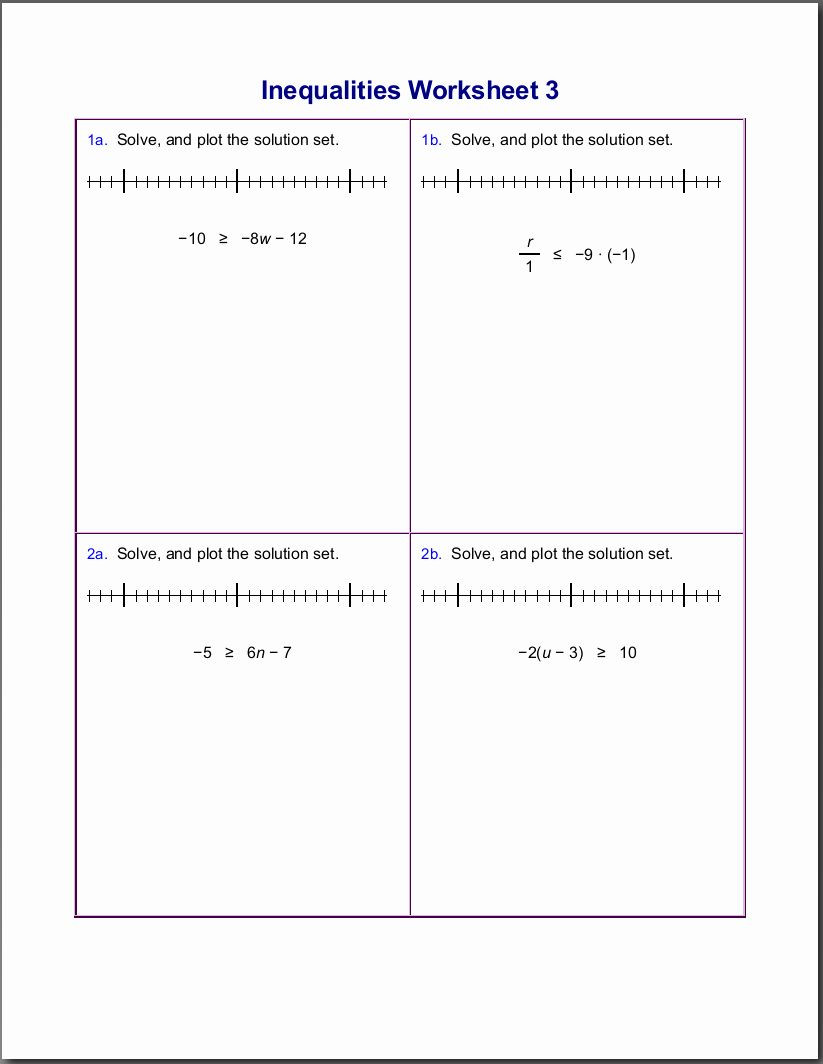 6th Grade Inequalities Worksheet 50 solving Linear Inequalities Worksheet In 2020