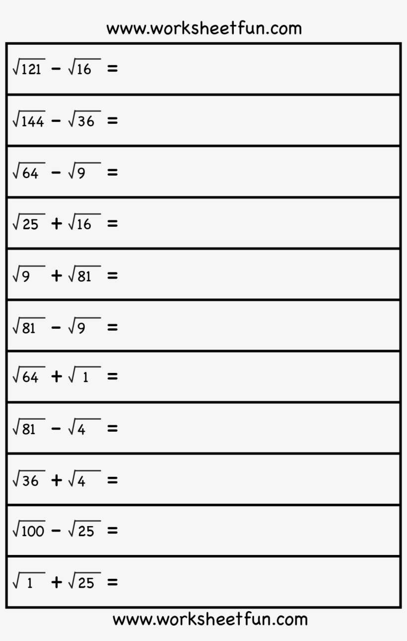 6th Grade Inequalities Worksheet Square Root 8th Grade Math Free Worksheets Roots 6th