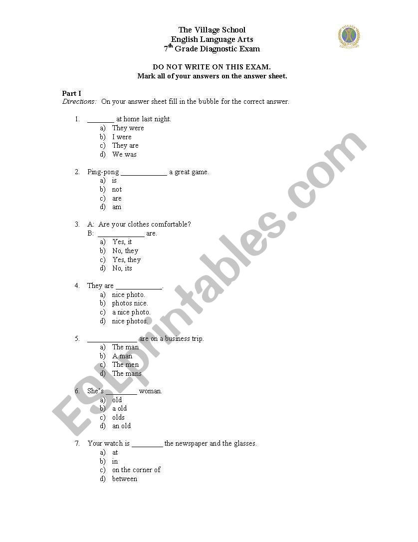 7th Grade Ela Worksheets English Worksheets Grade 7 Literature