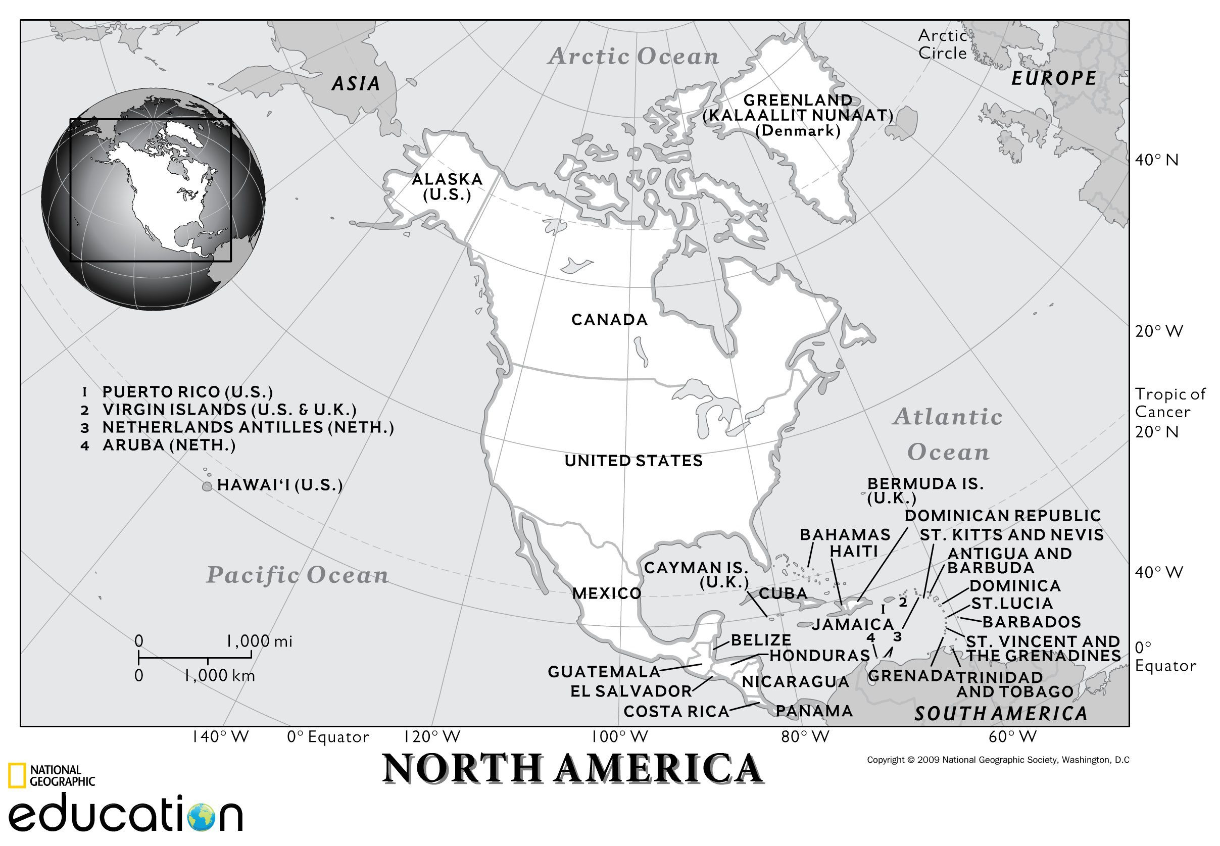 7th Grade Geography Worksheets north America Physical Geography