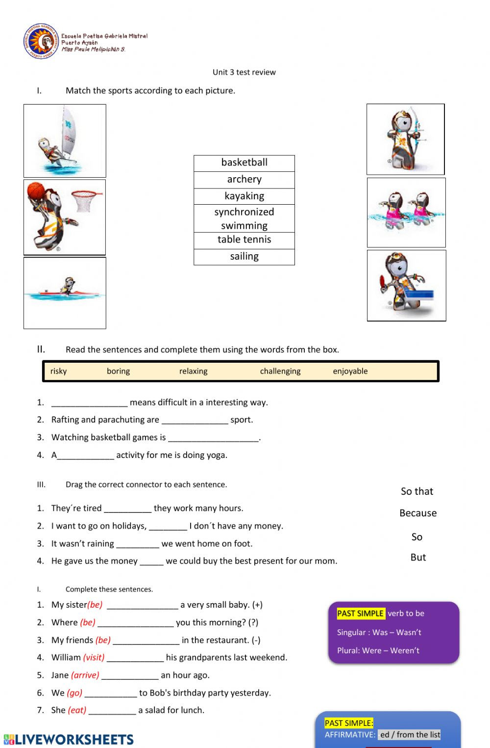 7th Grade Grammar Worksheets Pdf Unit 3 7th Grade Interactive Worksheet