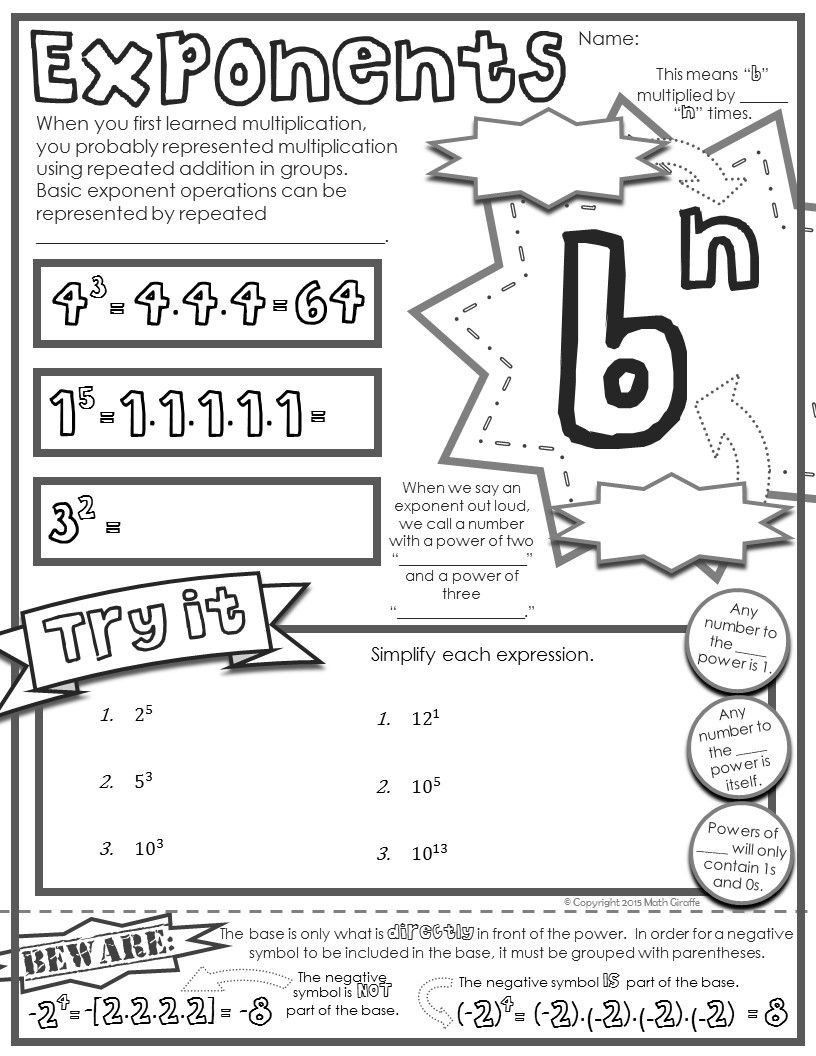 "7th Grade Math Enrichment Worksheets 7th Grade Math Enrichment Worksheets Free ""doodle Note"