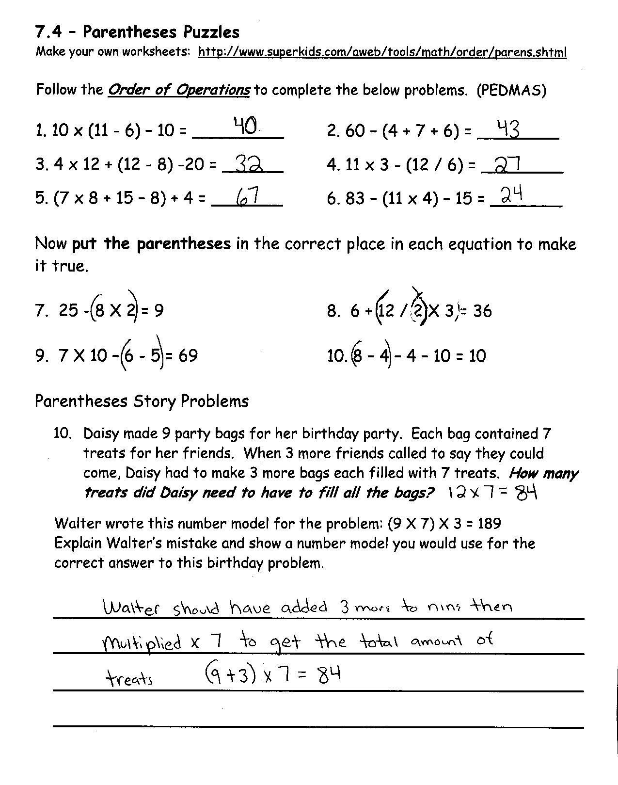 7th Grade Math Enrichment Worksheets Math Enrichment Worksheets
