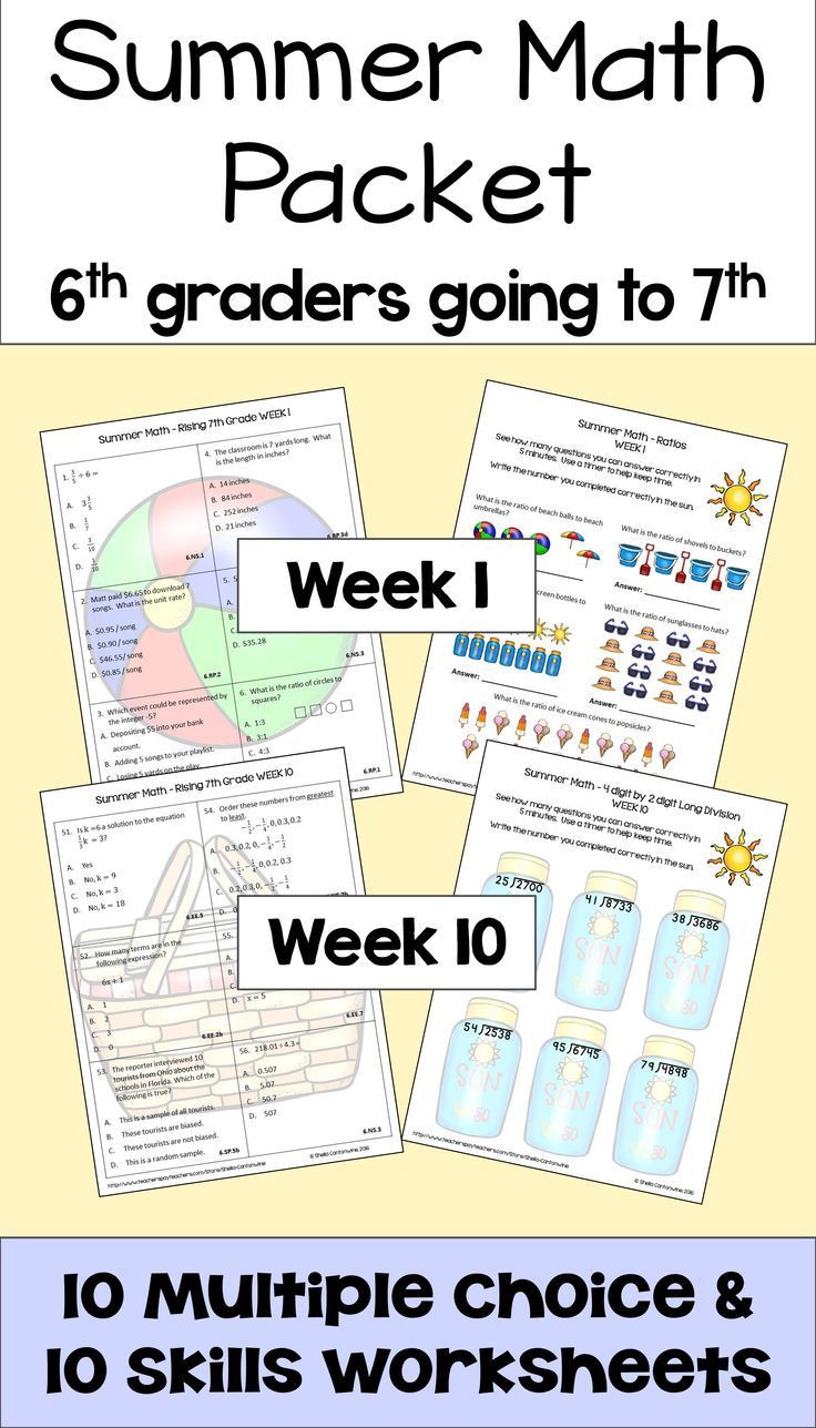 7th Grade Math Enrichment Worksheets Summer Math Packet for Rising 7th Graders Review Of 6th