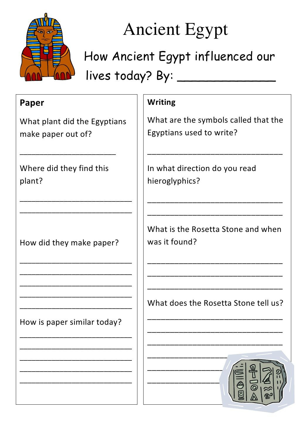 7th Grade World History Worksheets Ancient Egypt Worksheet by 7gchaffey Via Slideshare