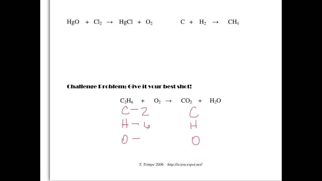 8th Grade Chemistry Worksheets Balancing Equations All 8th Grade Science Classes