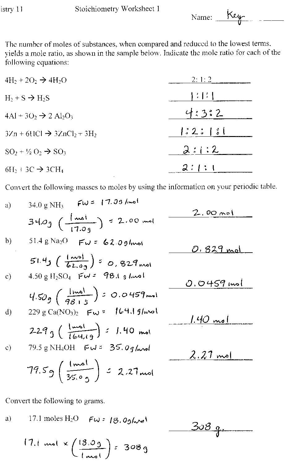 8th Grade Chemistry Worksheets Point Grey Secondary School General Chemistry Worksheets and