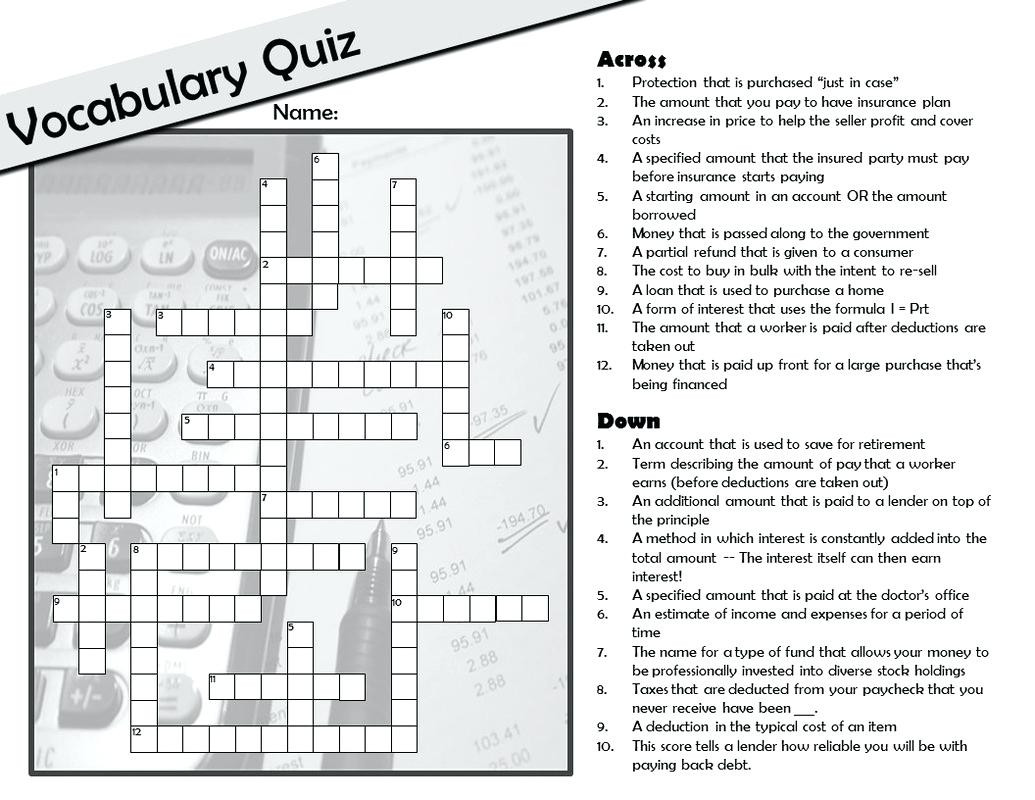 8th Grade Math Vocabulary Crossword Maths Term Crossword – Leahaliub