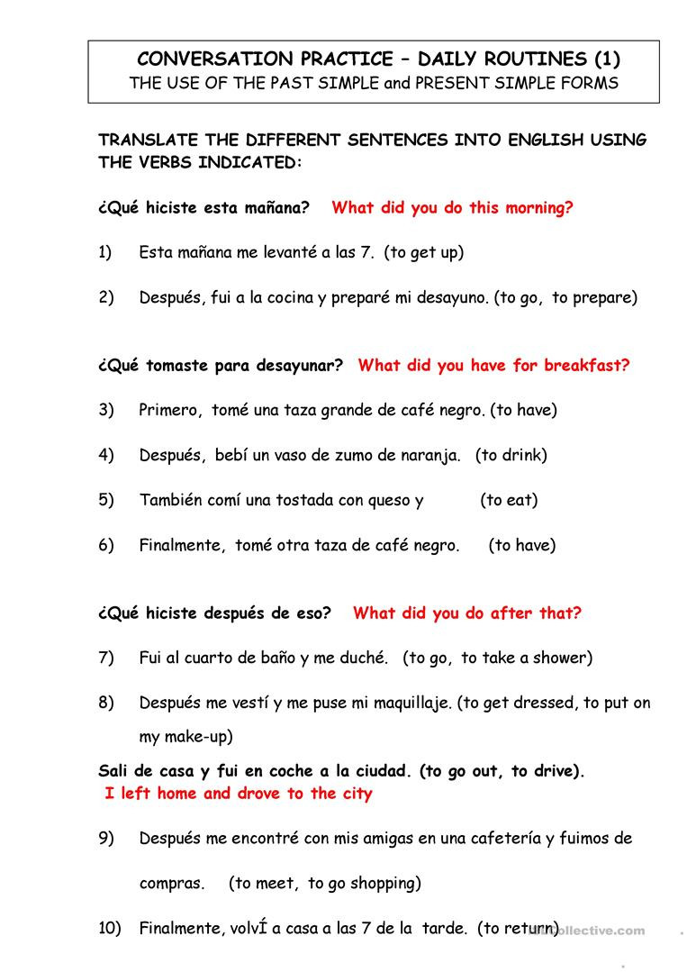 8th Grade Spanish Worksheets English Esl Spanish Worksheets Most Ed 63 Results