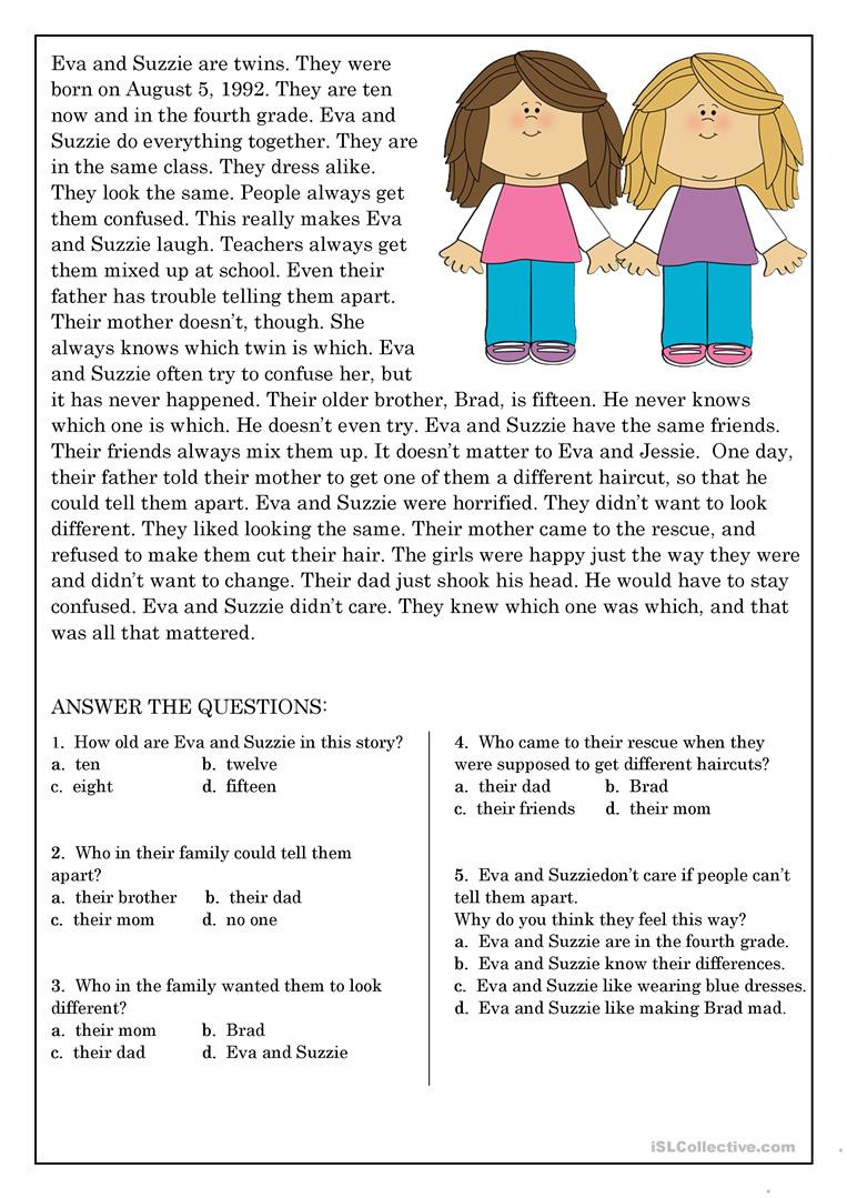 9 11 Reading Comprehension Worksheets Reading Prehension for Beginner and Elementary Students 9
