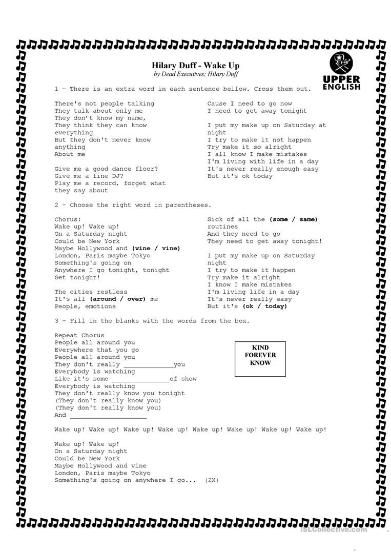 A Fine Fine School Worksheets song Activity English Esl Worksheets for Distance Learning