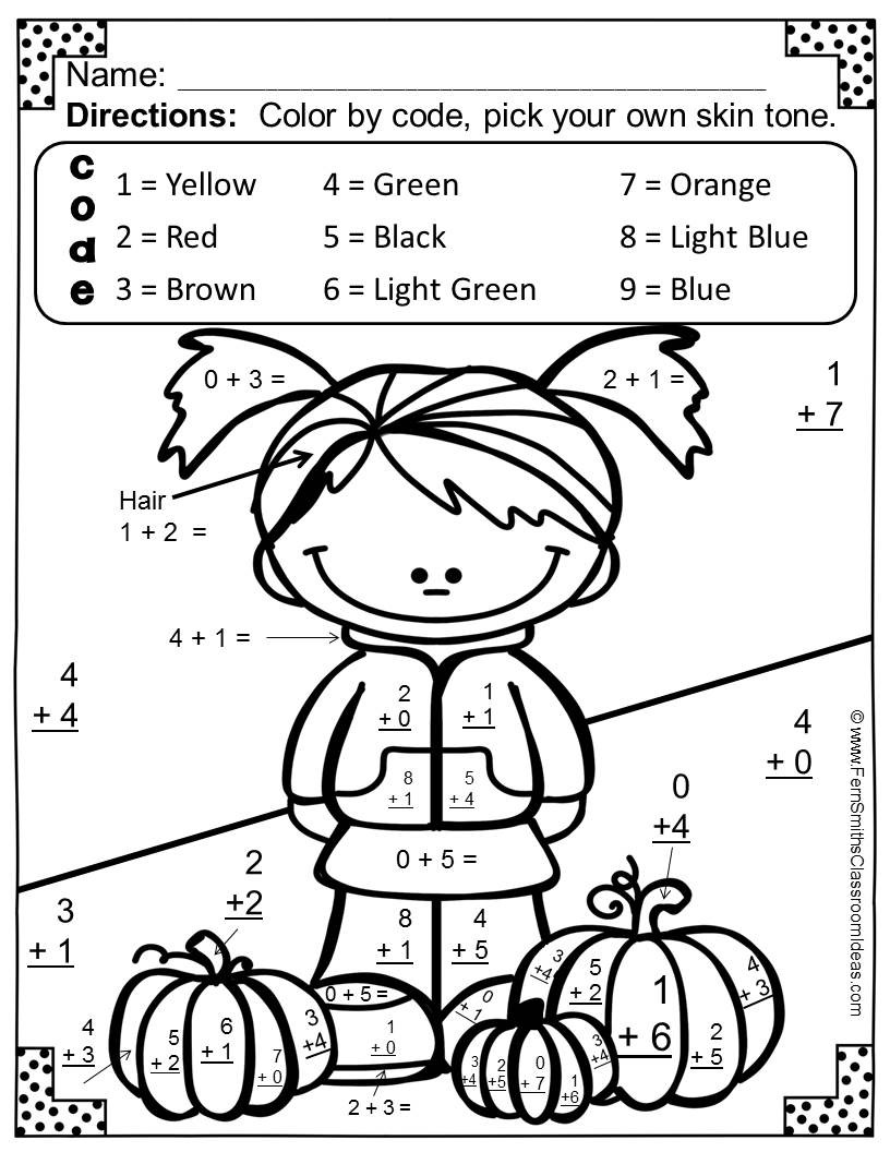 Addition Math Coloring Worksheets Coloring Book Math Coloring Pages Color by Number Addition