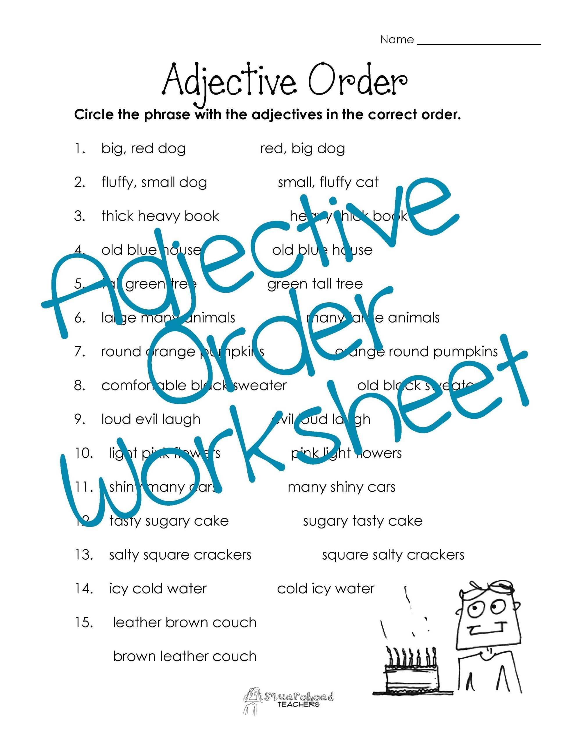 Adjectives Worksheets for Grade 1 Adjective Worksheets 4th Grade
