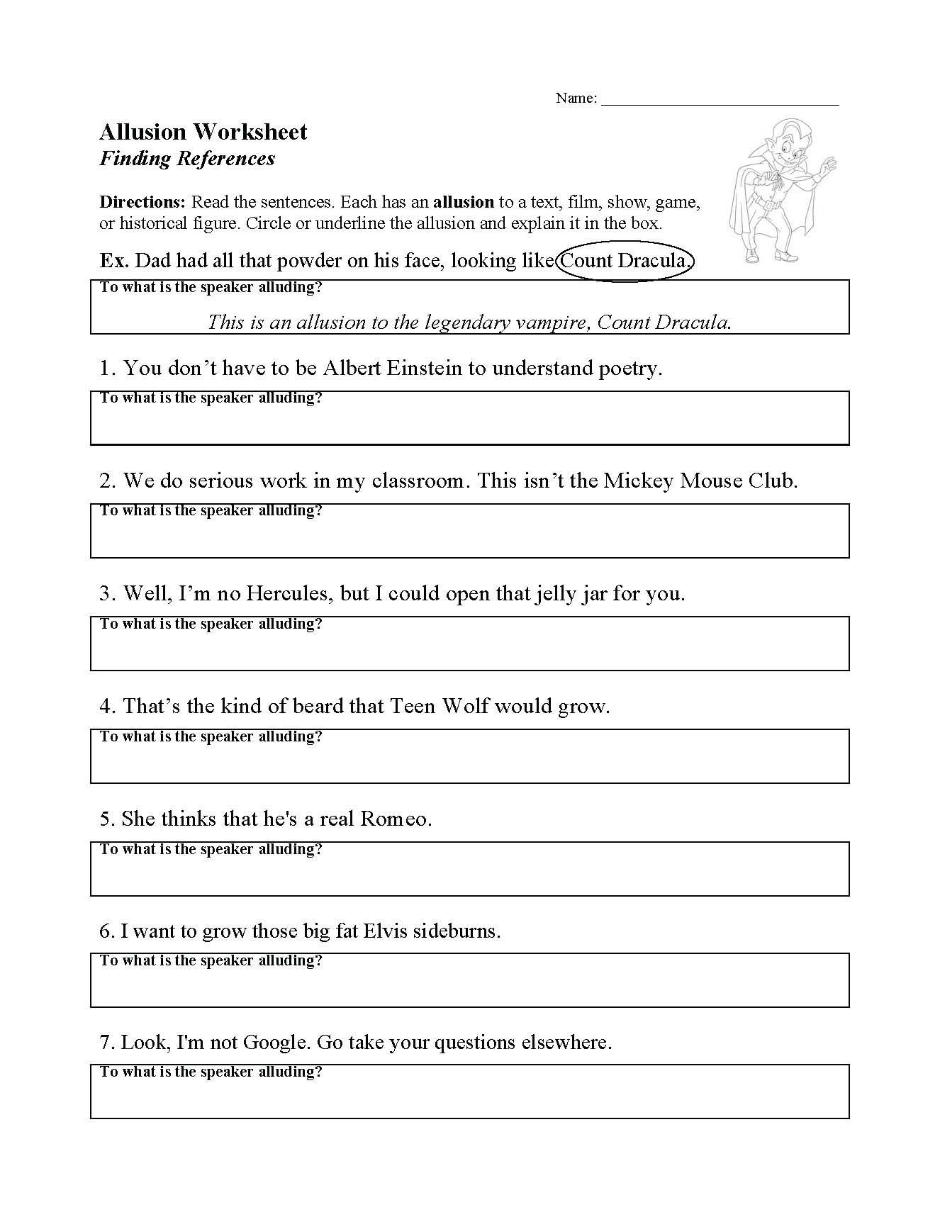 Allusion Worksheet for Middle School top Ten Floo Y Wong Artist — Figurative Language Allusion
