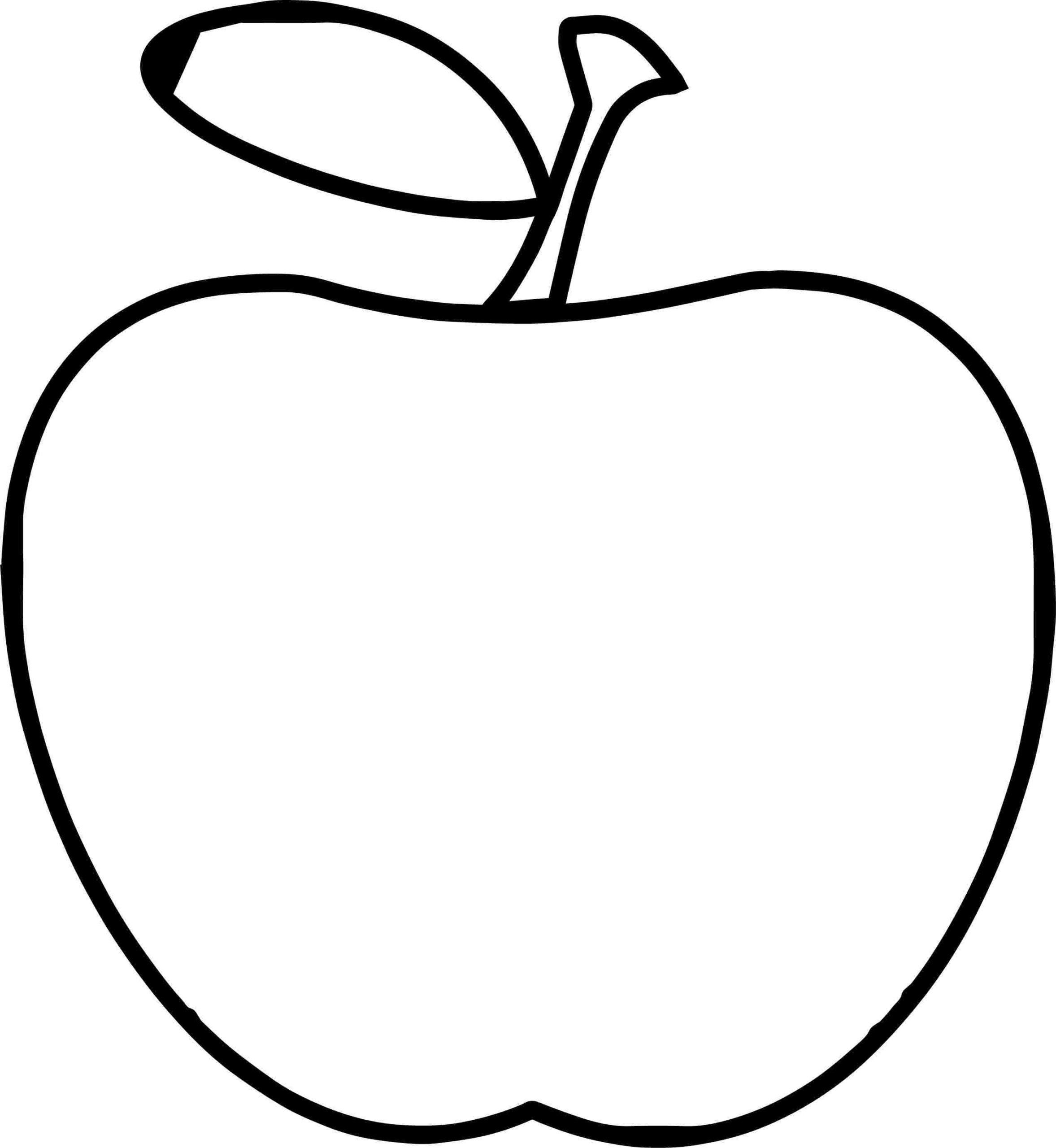 Apple Worksheets Preschool Remarkable Easy Coloring for Kids Apple to Print Super