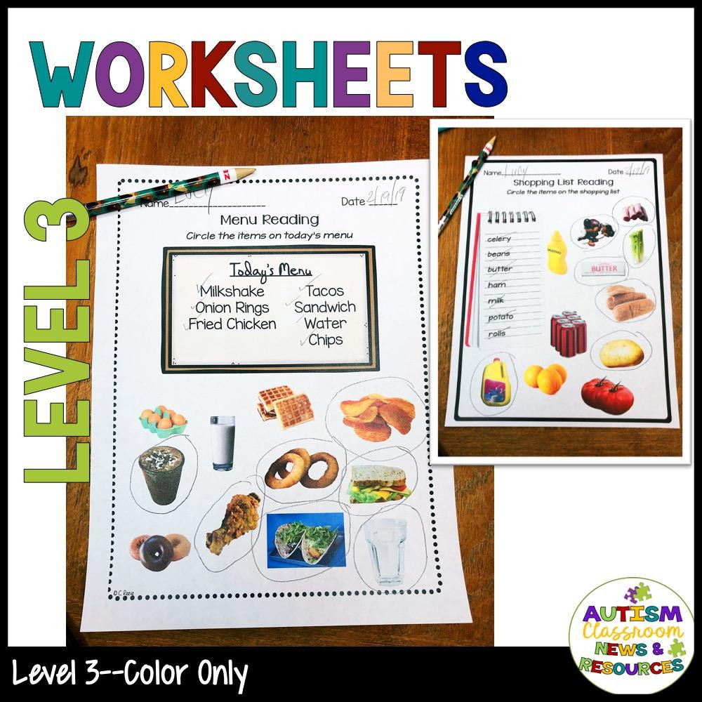 Autism Reading Comprehension Worksheets Functional Sight Words Reading Prehension Worksheets