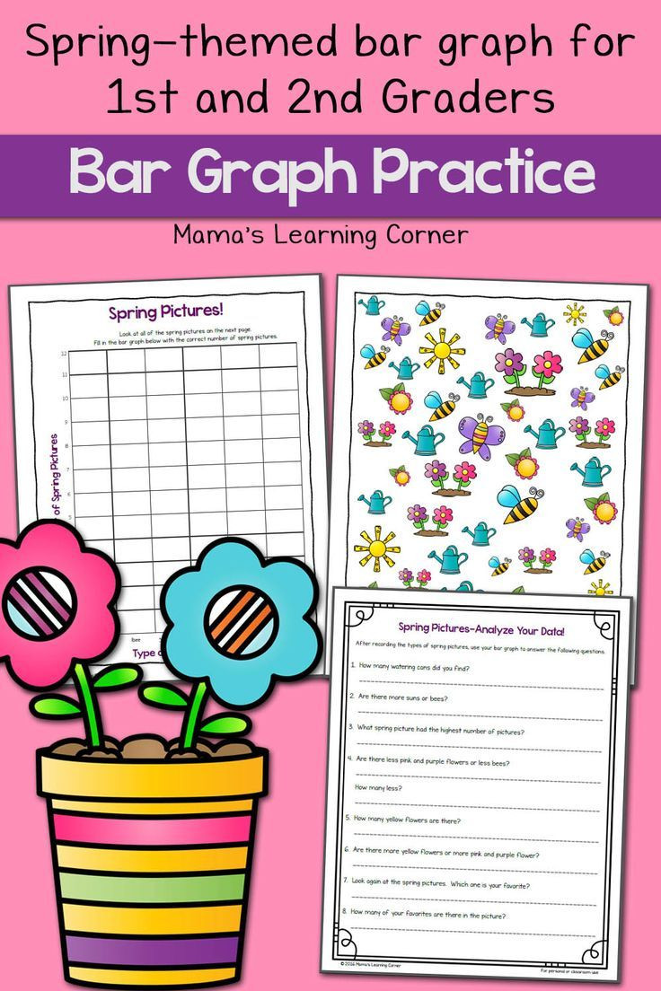 Bar Graph Worksheets 1st Grade Spring Picture Bar Graph Worksheets