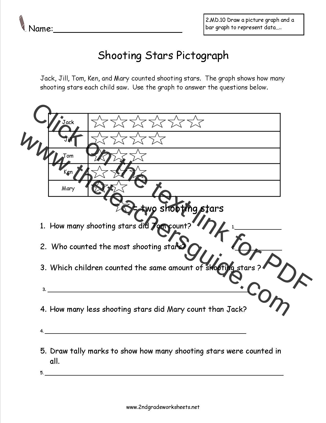 Bar Graph Worksheets 4th Grade 2nd Grade Worksheet Bar Graph Make