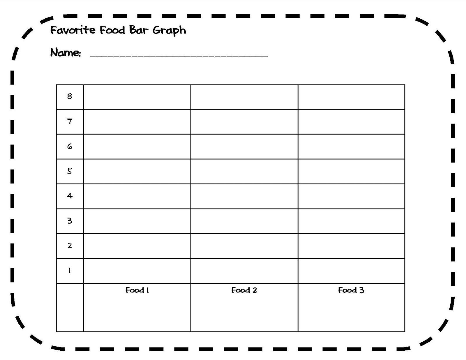 Bar Graph Worksheets 4th Grade Favorite Food Bar Graph Activity 1st 4th Grade
