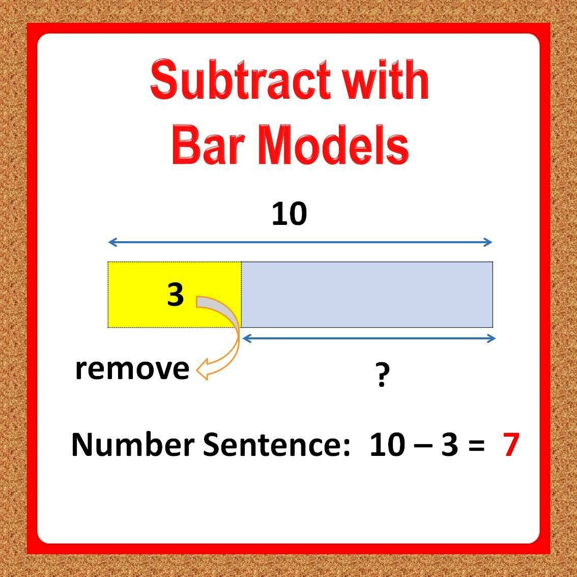 Bar Model Math Worksheets 1st Grade Math Worksheets Subtraction Using Bar Models