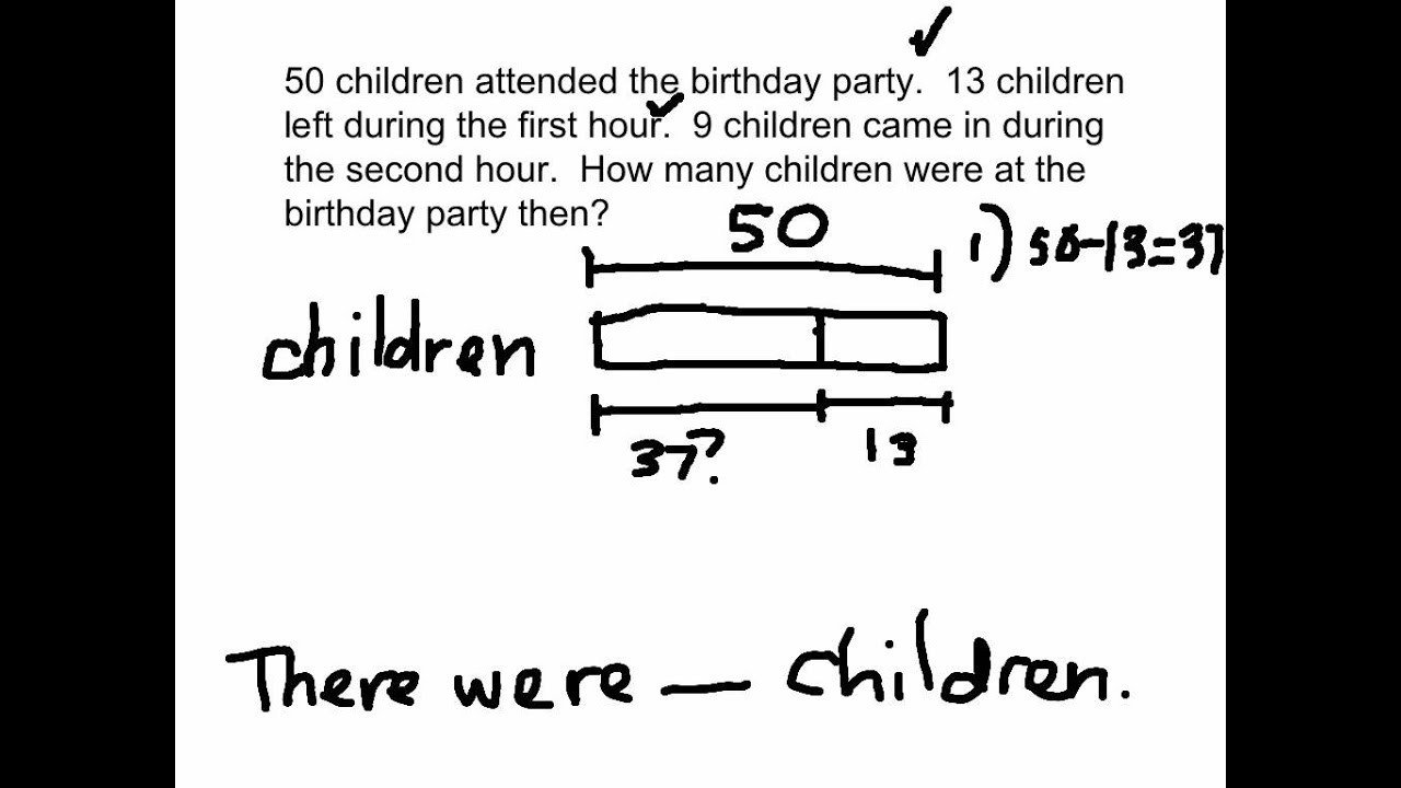 Bar Model Math Worksheets 2 Step Word Problems and Bar Models solutions Examples