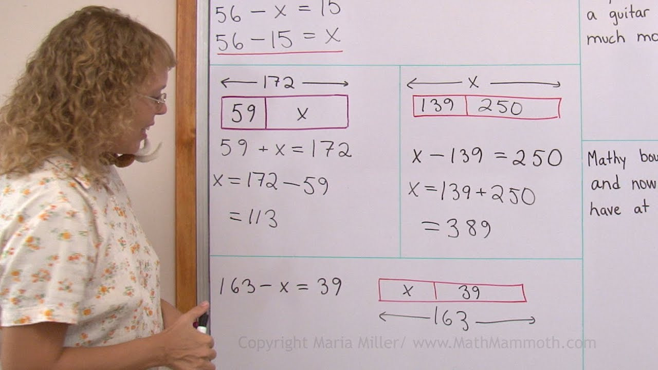 Bar Model Math Worksheets Bar Models In Addition and Subtraction Problems 4th Grade Math