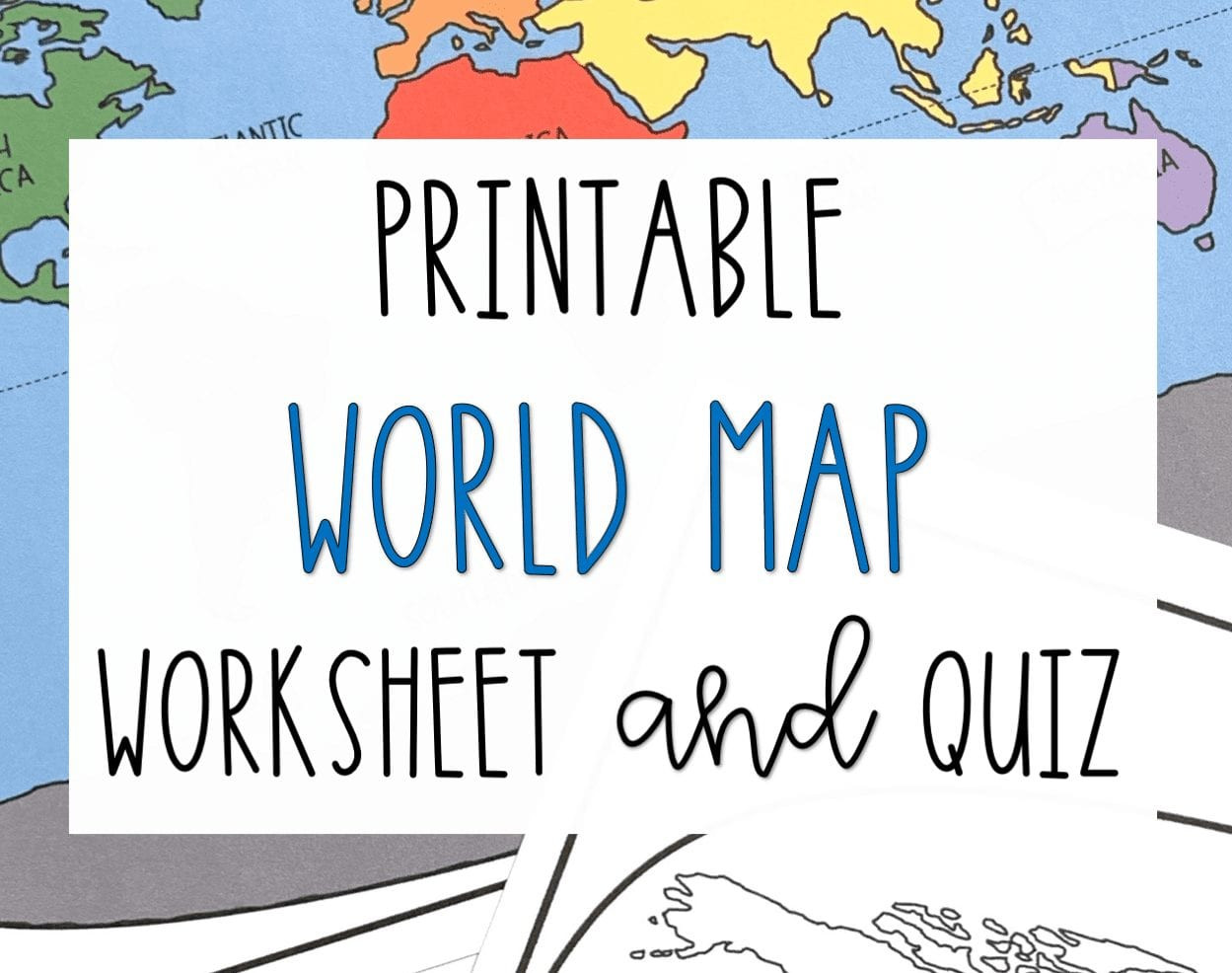 Blank Us Map Quiz Printable Printable World Map Worksheet and Quiz