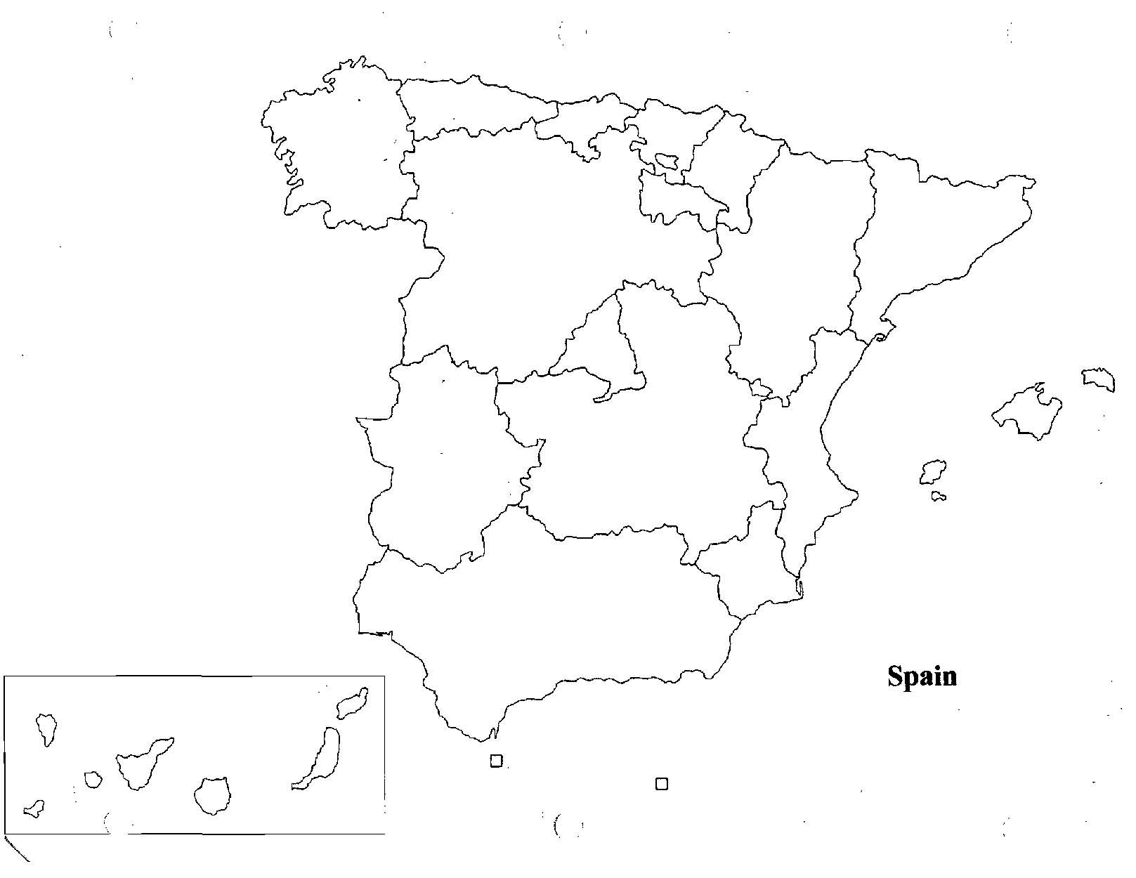 Blank Us Map Quiz Printable Spain Map Quiz Imsa Kolese