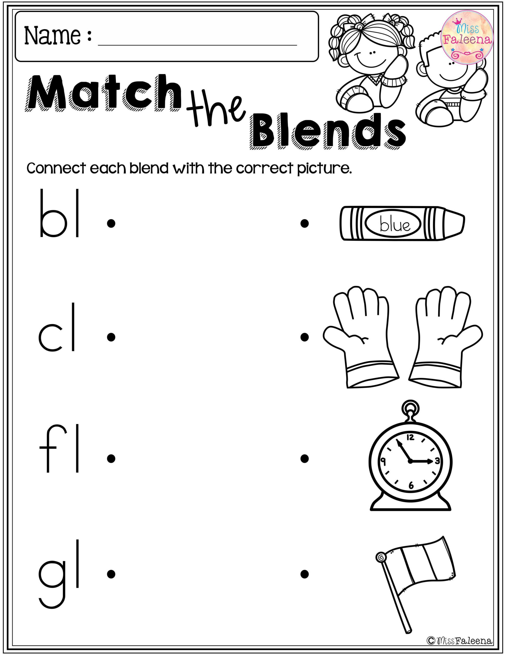 Blends Worksheet for First Grade Holiday Math Worksheets Trivia Worksheets for Kids Free