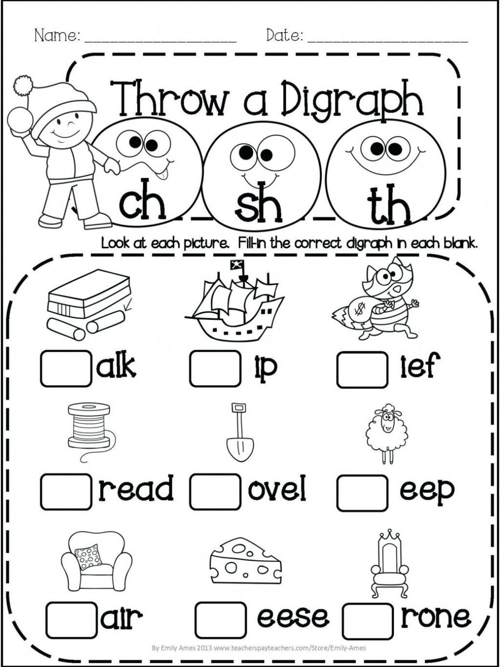 Blends Worksheet for First Grade Worksheet Awesome 1st Grade Phonicsksheets Image Ideas