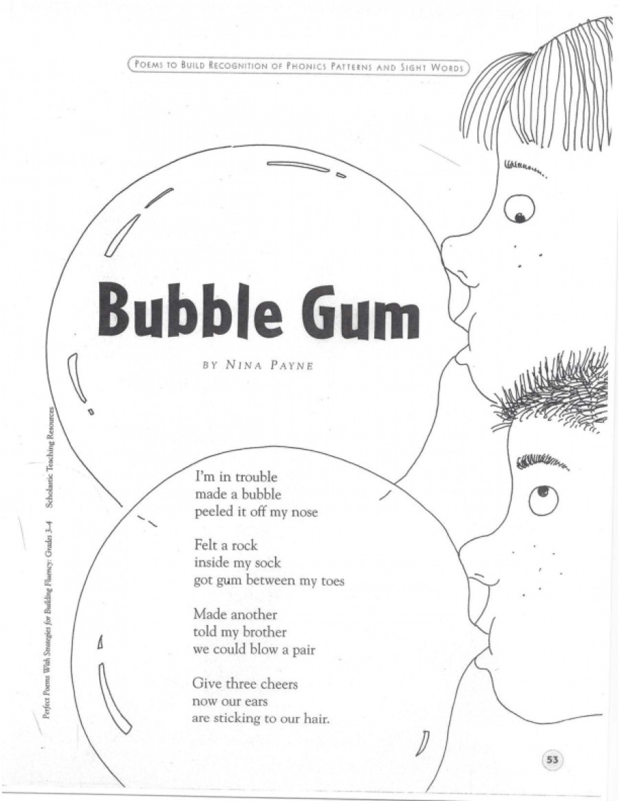 Bubble Gum Math Worksheets Bubble Gum
