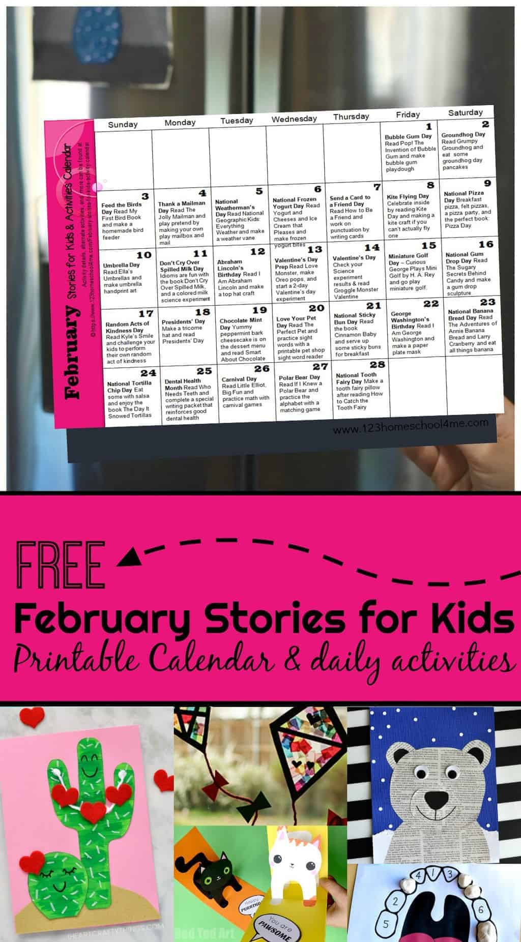 Bubble Gum Math Worksheets February Stories for Kids with Activity Calendar