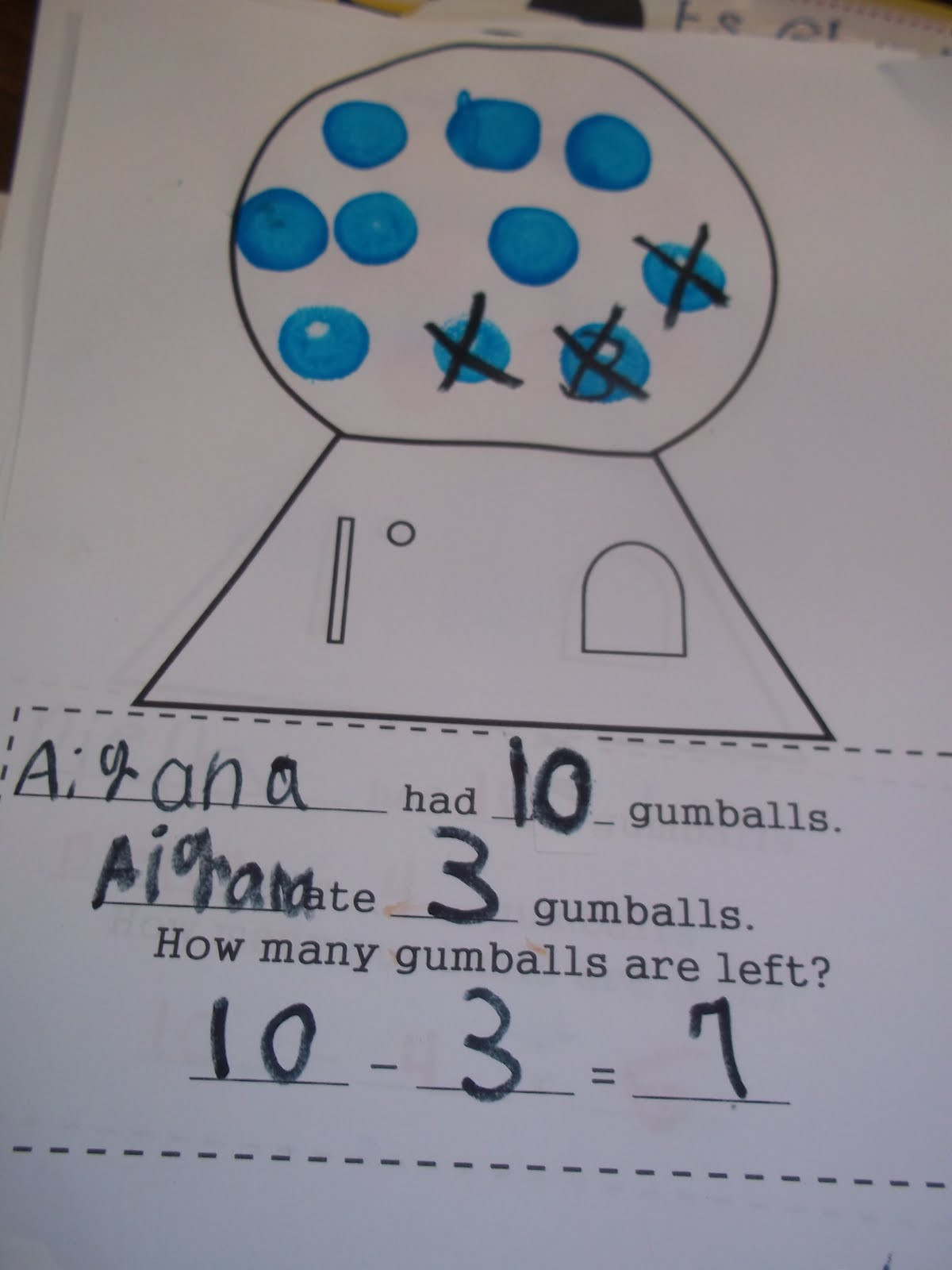 Bubble Gum Math Worksheets Mrs Wood S Kindergarten Class Bubble Gum Math