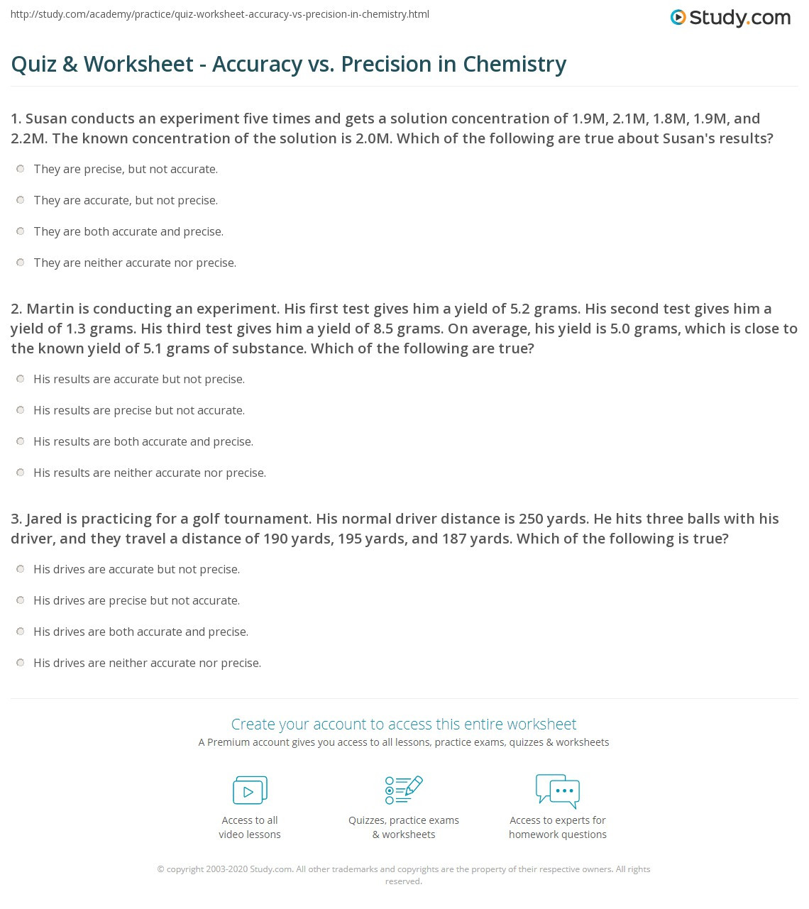 Capacity Worksheets 4th Grade Accuracy and Precision Worksheet