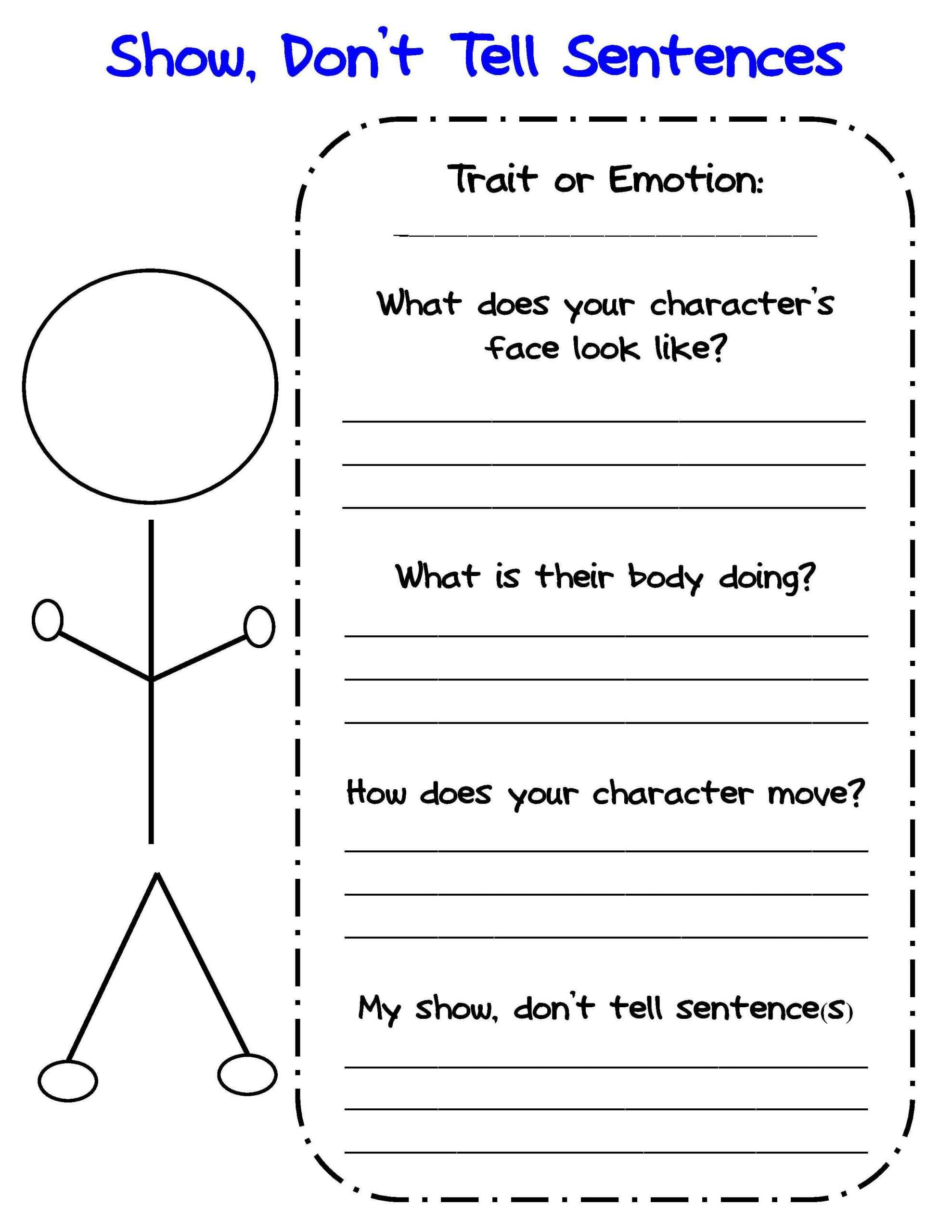 Character Traits Worksheet 4th Grade Bringing Characters to Life In Writer S Workshop