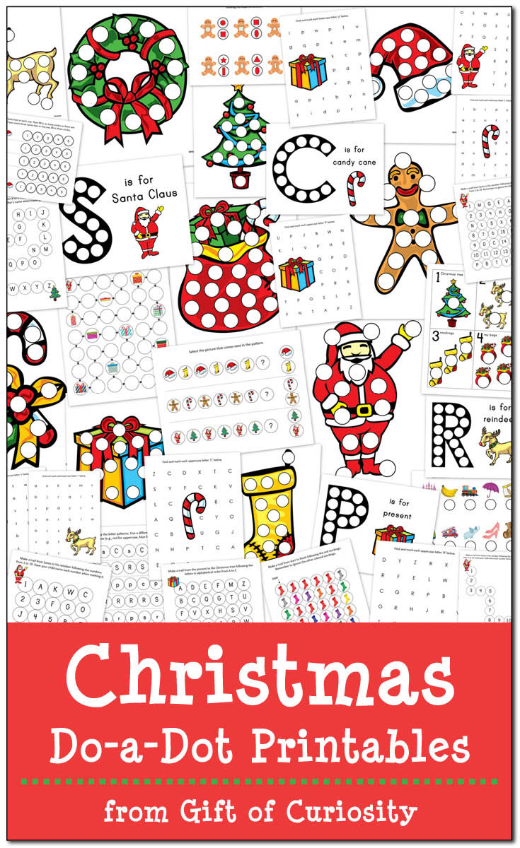 Christmas Dot to Dot Printables Christmas Do A Dot Printables Gift Of Curiosity