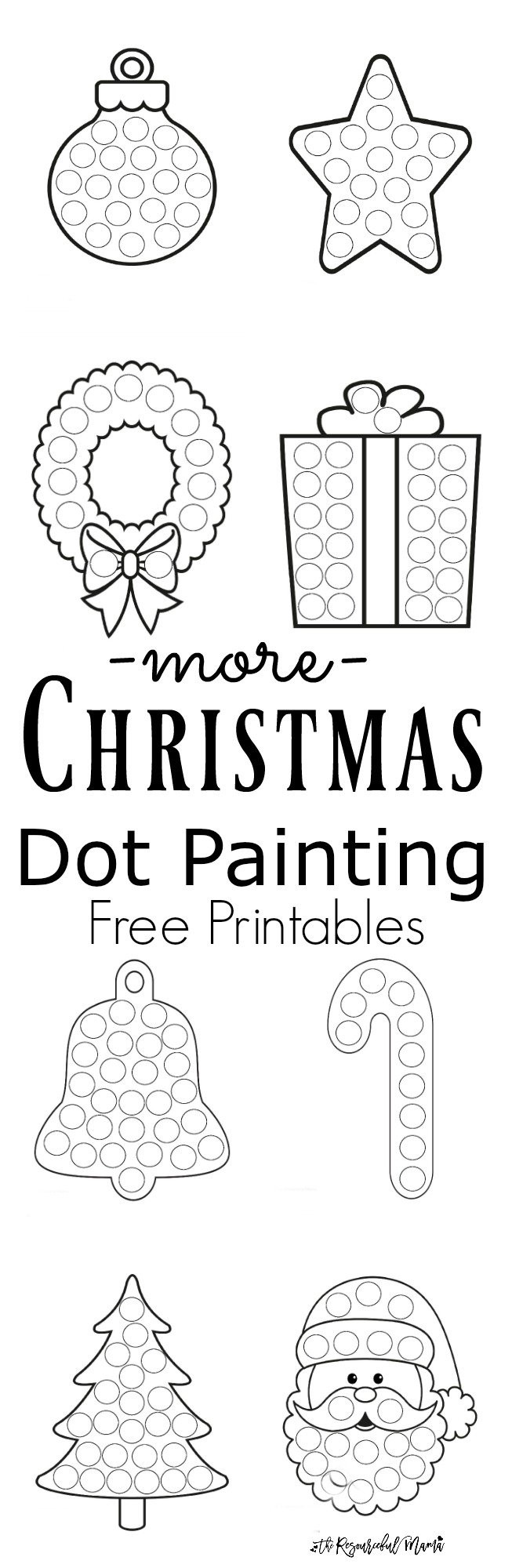 Christmas Dot to Dot Printables More Christmas Dot Painting Free Printables the