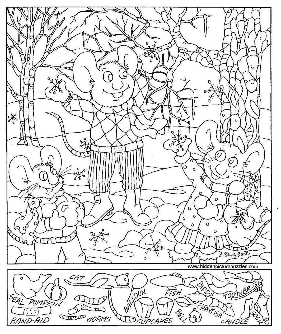 Christmas Hidden Picture Puzzles Printable Christmas Printable Hidden Picture Worksheets