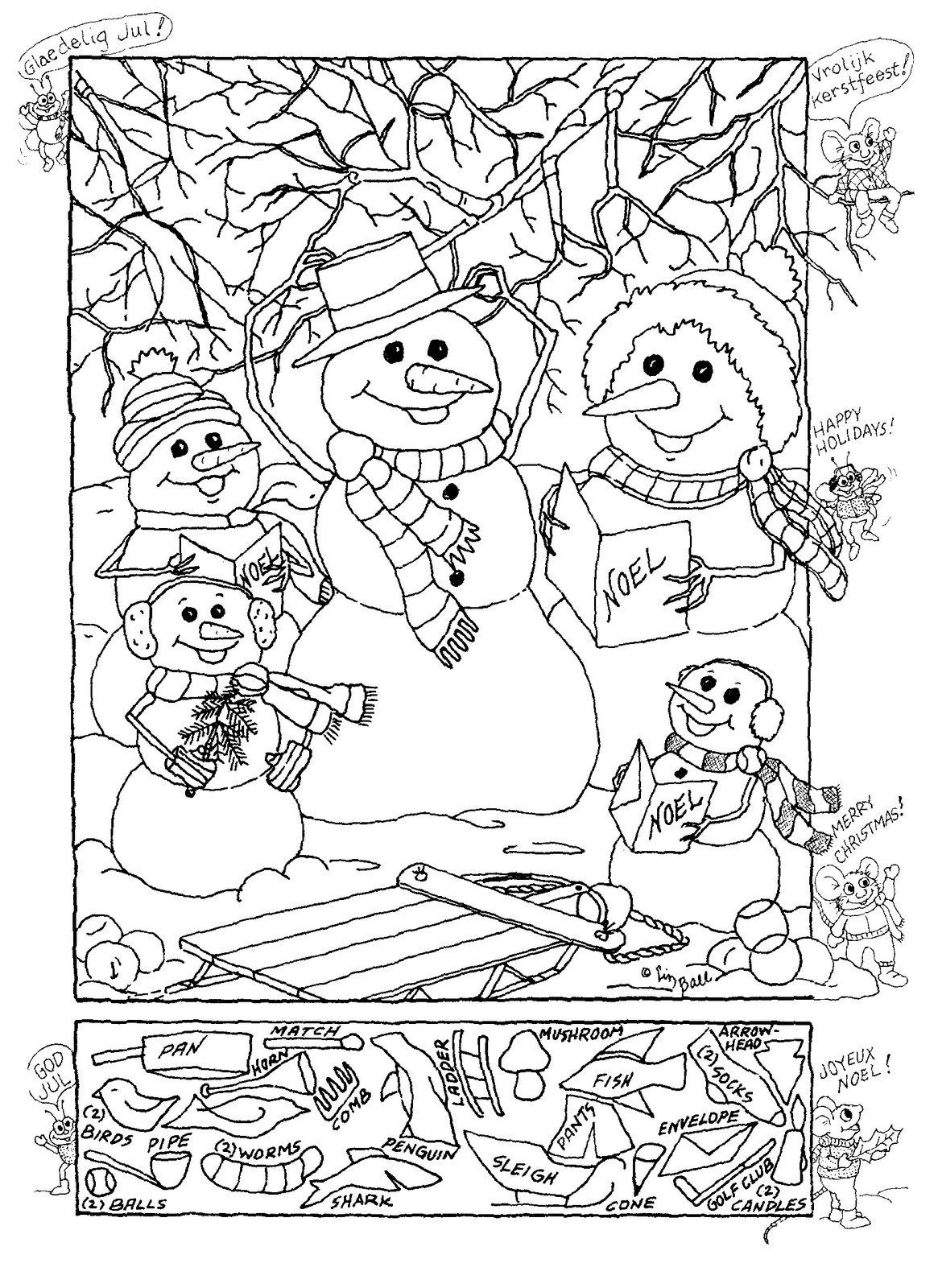 Christmas Hidden Picture Puzzles Printable Hidden Publishing Snowman Hidden Picture Puzzle