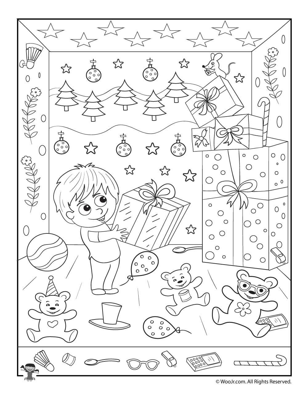 Christmas Hidden Pictures Printable Christmas Gifts Hidden Picture Printable Activity