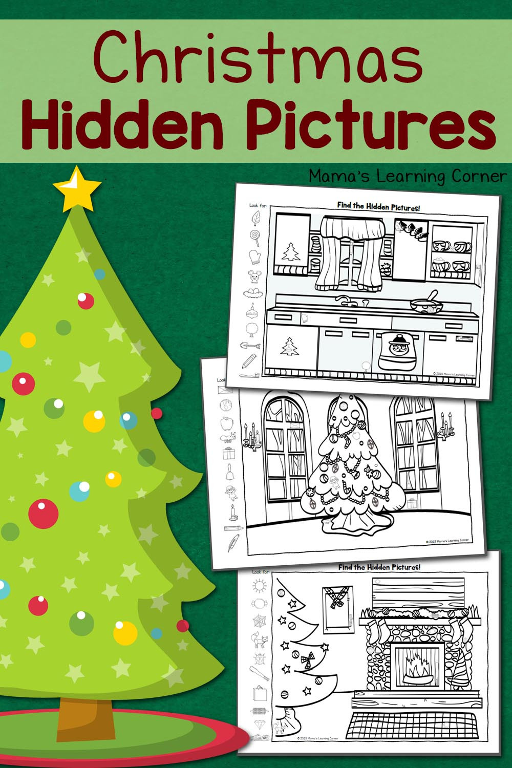 Christmas Hidden Pictures Printable Christmas Hidden Worksheets Mamas Learning Corner