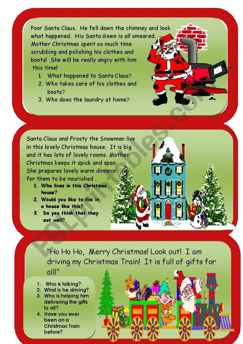 Christmas Reading Comprehension Worksheets Christmas Reading and Writing Prehension Worksheet 2
