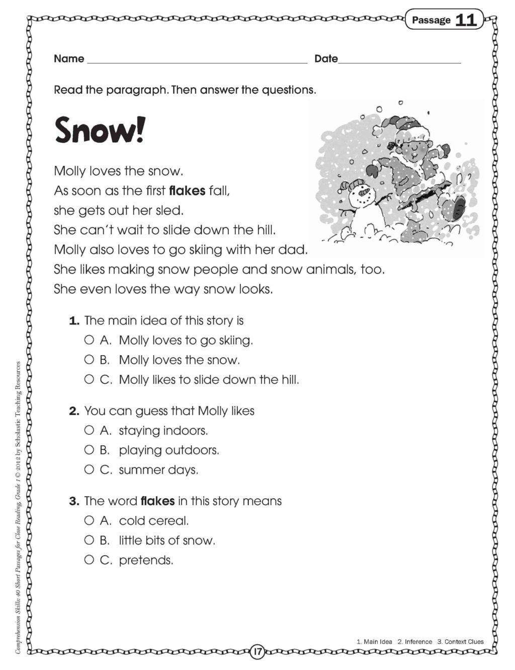 Christmas Reading Comprehension Worksheets Worksheet Worksheet 1st Grade Literacy Worksheets Splendi