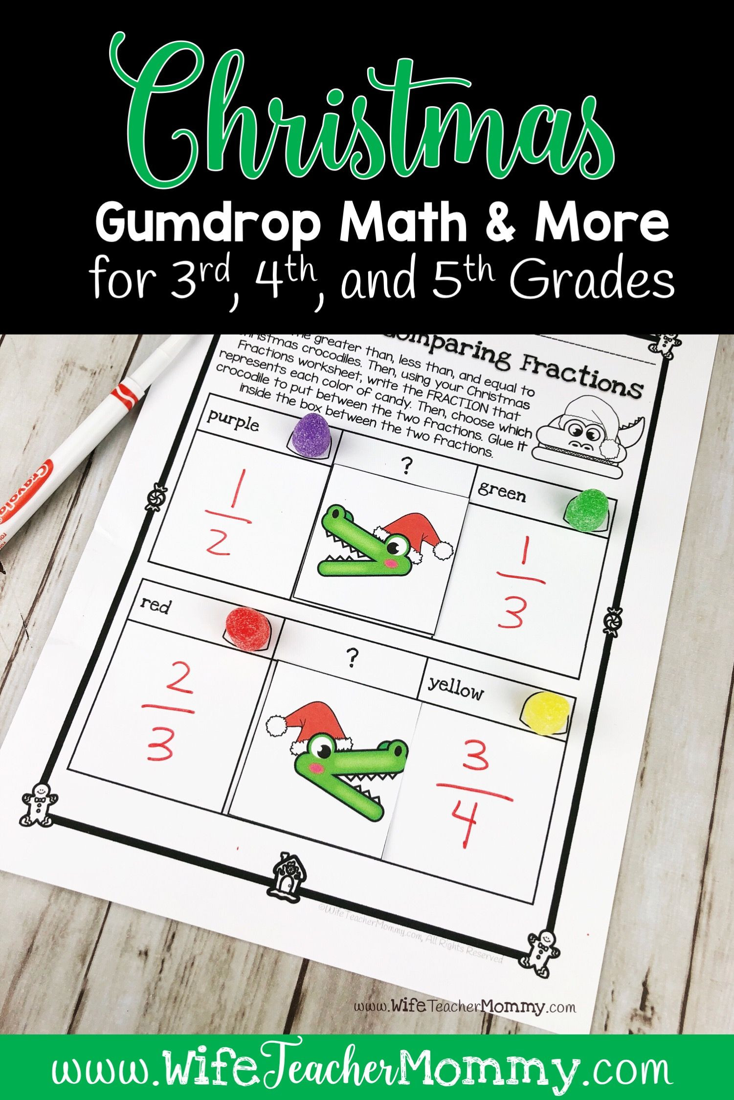 Christmas Worksheets 5th Grade Christmas Gumdrop Math Activities & More for 3rd 4th 5th