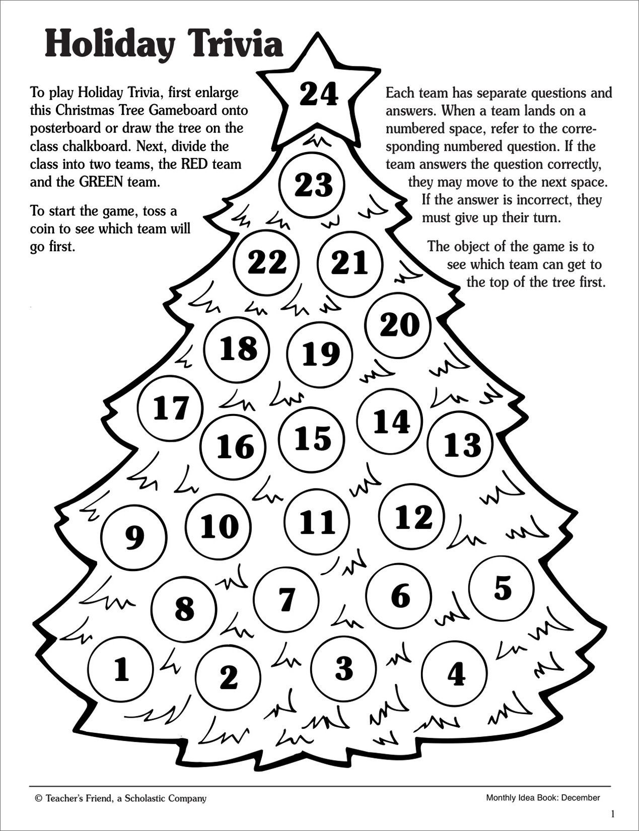 Christmas Worksheets 5th Grade Christmas Holiday Trivia Game Scholastic Printables Grammar