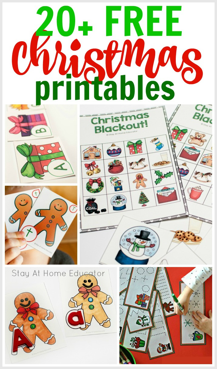 Christmas Worksheets for Preschool 20 Free Christmas Printables Perfect for the Classroom