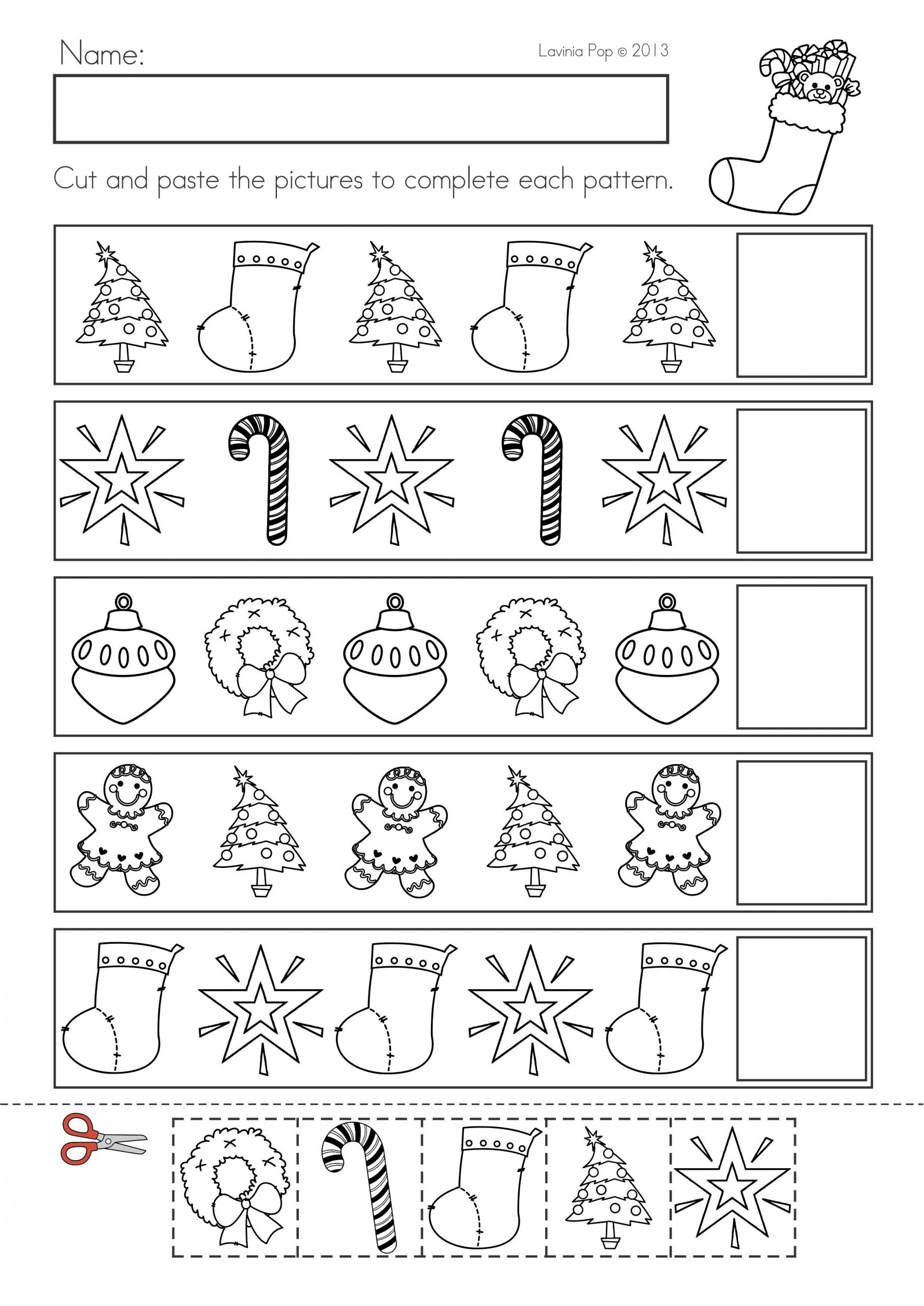 Christmas Worksheets for Preschool Christmas Math & Literacy Worksheets & Activities No Prep